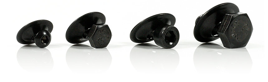 The captive screws SAVETIX® are now available in black anodized finish (extra charge)